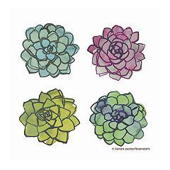 Thirstystone OCS Succulents 4-pc. Coaster Set