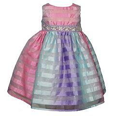 Girls 4-6x Blueberi Boulevard Striped Embellished Dress