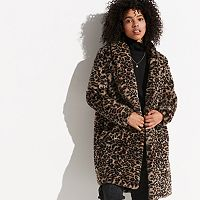 k/lab Leopard Faux-Fur Coat