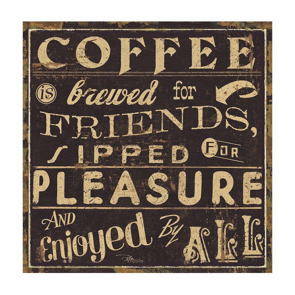 Thirstystone Ocs Coffee Quote Ii 4 Pc Coaster Set Legging Cotton Rich 4pc