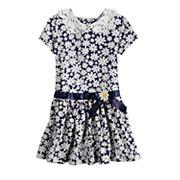 Girls 4-6x Blueberi Boulevard Daisy Lace Peter Pan Collar Dress