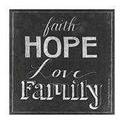 Thirstystone OCS Chalkboard Faith 4 pc Coaster Set