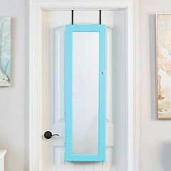 InnerSpace Wall & Over-The-Door Mirror Jewelry Armoire