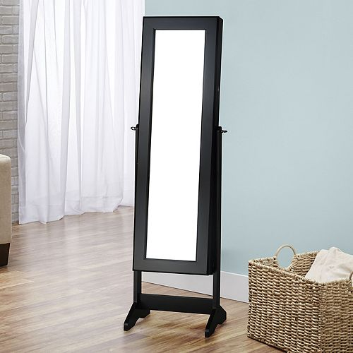 InnerSpace Cheval Mirror Floor Jewelry Armoire | null
