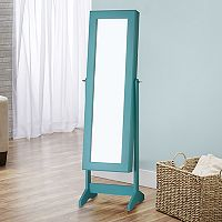 InnerSpace Cheval Wall & Floor Mirror Jewelry Armoire