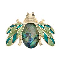 Dana Buchman Simulated Abalone Flying Bug Pin