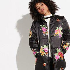 k/lab Floral Print Puffer Jacket
