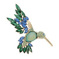 Dana Buchman Cabochon Hummingbird Pin