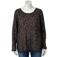 Plus Size LC Lauren Conrad Lace Trim Tunic