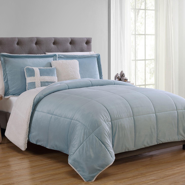vcny sherpa fleece comforter set