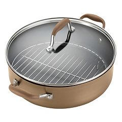 Anolon Advanced Bronze 5.5-qt. Hard-Anodized Nonstick Braiser with Rack