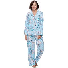 Women's Miss Elaine Essentials Pajamas: Cottonessa Notch Collar PJ Set