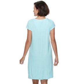 Women's Miss Elaine Essentials Pajamas: Liquidknit Short Nightgown