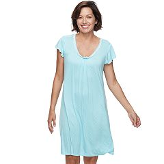 Women's Miss Elaine Essentials Pajamas: Liquidknit Short Nightgown