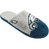 Men's Forever Collectibles Philadelphia Eagles Colorblock Slippers