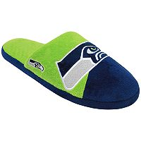 Men's Forever Collectibles Seattle Seahawks Colorblock Slippers
