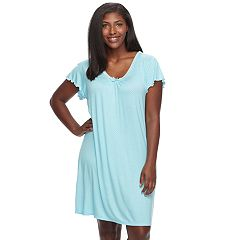 Plus Size Miss Elaine Essentials Pajamas: Liquidknit Short Nightgown