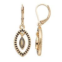 Dana Buchman Marquise Orbital Leverback Earrings
