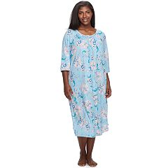 Plus Size Miss Elaine Essentials Pajamas: Cottonessa Long Nightgown