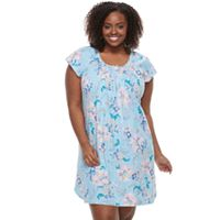 Plus Size Miss Elaine Essentials Pajamas: Cottonessa Short Sleeve Nightgown