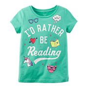 Girls 4-8 Carter's 'I'd Rather Be Reading' Graphic Tee