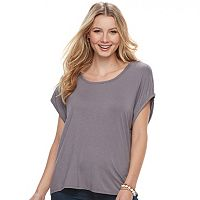 Juniors' Miss Chievous Drape-Back Tee