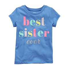 Girls 4-8 Carter's 'Best Sister Ever' Graphic Tee