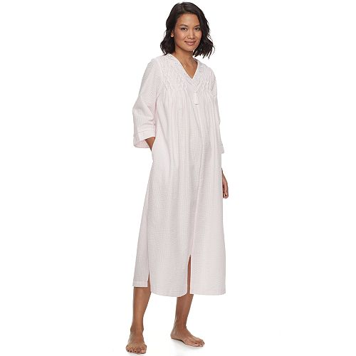 boy great deals 2017 new styles Women's Miss Elaine Essentials Seersucker Zip-Up Long Robe