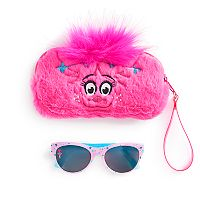 DreamWorks Trolls Poppy Girls 4-16 Sunglasses & Faux-Fur Case Set