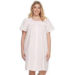 Plus Size Miss Elaine Essentials Snap Front Seersucker Short Robe