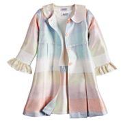 Girls 4-6x Blueberi Boulevard Multi-Striped Coat & Dress Set
