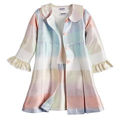 Girls 4-6x Blueberi Boulevard Multi-Striped Coat & Dress Set