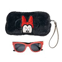 Disney's Minnie Mouse Girls 4-16 Sunglasses & Faux-Fur Case Set