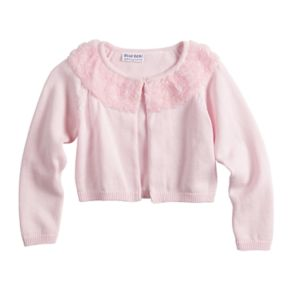 Girls 4-6x Blueberi Boulevard Rosette Collar Cardigan