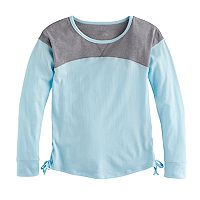 Girls 7-16 SO® Side-Lace Drop Shoulder Tee