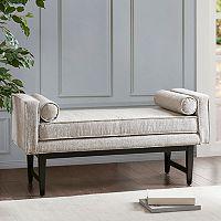 Madison Park Lovall Bench & Bolster Pillow 3 pc Set