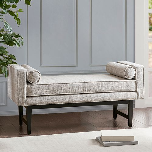 Madison Park Lovall Bench & Bolster Pillow 3-piece Set