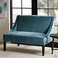 Madison Park Calla Swoop Arm Settee Loveseat