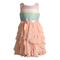 Girls 4-6x Youngland Iridescent Cascade Dress