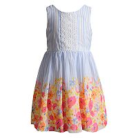 Girls 4-6x Youngland Chiffon Floral Dress