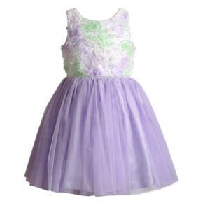 Girls 4-6x Youngland Soutache & Sequin Dress