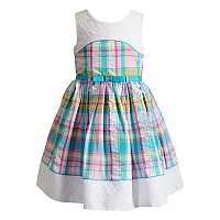 Girls 4-6x Youngland Plaid & Eyelet Seersucker Dress