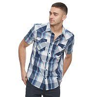 Men's Levi's Plaid Button-Down Poplin Shirt