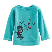 Disney's Minnie Mouse Baby Girl Glittery Graphic Pullover Sweater By Jumping Beans®
