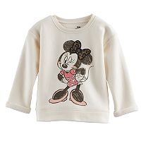 Disney's Minnie Mouse Baby Girl Leopard Bow Graphic Pullover Sweater By Jumping Beans®