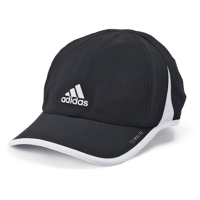 Women's Adidas Superlite Cap, Black With UPF 50 protection, and an adjustable closure, this Adidas Superlite Cap is a great choice for running and training. Lightweight climalite 6-panel UPF 50+ FIT & Sizing 2 3/4-in. brim Adjustable circumference Hook & loop closure Fabric & Care Polyester Hand wash Imported Size: One Size. Color: Black. Gender: Female. Age Group: Adult.