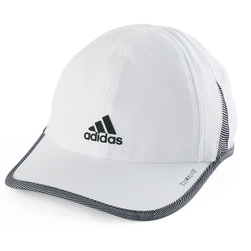 Women's Adidas Superlite Cap, White With UPF 50 protection, and an adjustable closure, this Adidas Superlite Cap is a great choice for running and training. Lightweight climalite 6-panel UPF 50+ FIT & Sizing 2 3/4-in. brim Adjustable circumference Hook & loop closure Fabric & Care Polyester Hand wash Imported Size: One Size. Color: White. Gender: Female. Age Group: Adult.