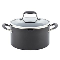 Anolon Advanced 6-qt. Hard-Anodized Nonstick Stockpot with Straining Lid