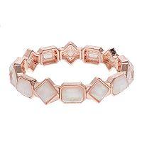 Geometric Foil Stone Stretch Bracelet