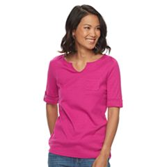 Women's Croft & Barrow® Splitneck Top